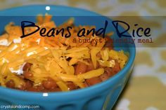 Easy Recipes: Beans and Rice (A Budget Friendly Meal)