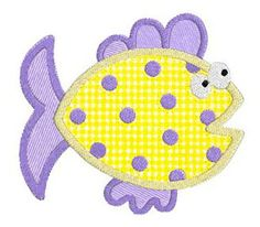 Ocean Fish APPLIQUE Machine Embroidery Designs by SewWithLisaB