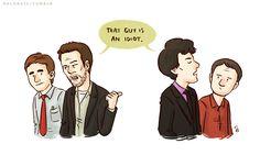 House & Wilson meet Sherlock and John