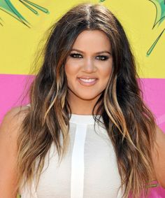 Khloe Kardashian Hairstyle - Casual Long Straight Hairstyle. Click on the image to try on this hairstyle and view styling steps!