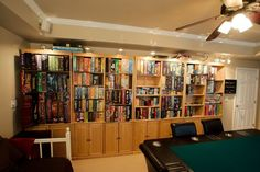 Ultimate games room storage.