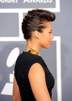 More Pics Of Alicia Keys Retro Updo