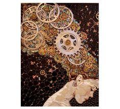 Mosaic portrait by Laura Harris
