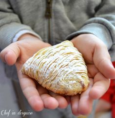 Sfogliatelle Ricci italian pastry, a yummy pastry filled with a semolina-ricotta filling scented with cinnamon
