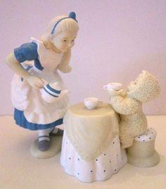 Department 56 Snowbabies - Alice in Wonderland Tea For Two Figurine