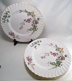 "Set of 6 Minton China ""Dainty Sprays"" Dinner Plates -1941-1970  10.5"" S-511 #Minton"