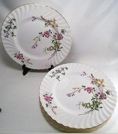 "Set of 6 Minton China ""Dainty Sprays"" Dinner Plates -1941-1970  10.5"" S-511 #Minton"