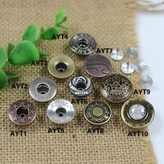 Click Our Letters Rivets Gallery to See More Style and Color . Jeans Button, Make Color, Vintage Buttons, Shake, Cufflinks, Giant Tree, Stud Earrings, Steampunk Crafts, Smoothie