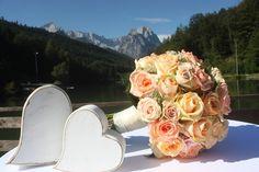 Peach & Pastell, Pfirsich, Rosa und Pastell, Sommerhochzeit im Riessersee…