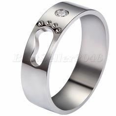 Details zu Edelstahl Ring Bandring Gold Golden Gravierte Gravur