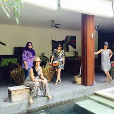 Our Villa.. #pulauboutiquevillas #myfavgirls #mommiesonvacation . Courtesy of @melindatobing in #Instagram. #atiqahhasiholan #familytime #relaxbythepool #seminyak #balivillas