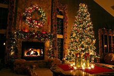 images of christmas decorated homes | Merry Christmas, Home Designers!