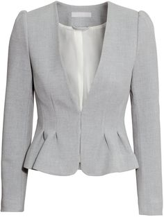 H&M Fitted Jacket - Gray melange - Ladies on shopstyle.com