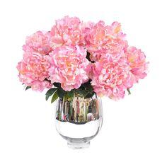 Faux Peony Arrangement pink