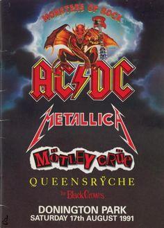 Monsters of rock concert posters | AC/DC / MOTLEY CRUE 1991 MONSTERS OF ROCK TOUR PROGRAM BOOK