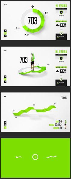 Nike Fuel Design Exploration. Presentation design layout. Inspirational presentation design samples.  Visit us at: www.sodapopmedia.com #PresentationDesign #Presentation #Multimedia #Interactive