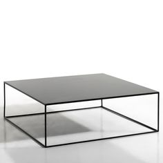 Romy Square Metal Coffee Table AM. The finesse of the leg frame gives this coffee table a sleek, graphic look which will fit seamlessly into any interior.Features: In epoxy finish. Steel Coffee Table, Black Coffee Tables, Coffee Table With Storage, Round Coffee Table, Metal Furniture, Table Furniture, Furniture Design, Mesa Metal, Industrial Furniture