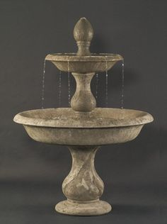 An elegant piece that stands five feet and seven inches tall, the Old Toscano Garden Water Fountain features a stylish tiered design that brims with an understated old world charm and beauty. Made wit