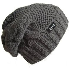 Amazon.com  Frost Hats Winter Hat for Women CHARCOAL Slouchy Beanie Hat  Knitted Winter Hat Frost Hats (Charcoal)  Clothing f30a078bbb2