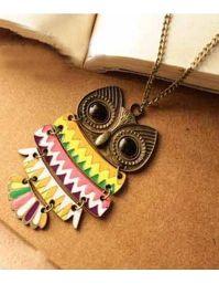 Buy Colored owl neckpiece