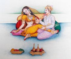 Mughal art love with food Mughal Miniature Paintings, Mughal Paintings, Indian Art Paintings, Sexy Painting, Sketch Painting, Rajasthani Painting, Indian Women Painting, Ancient Indian Art, Kerala Mural Painting