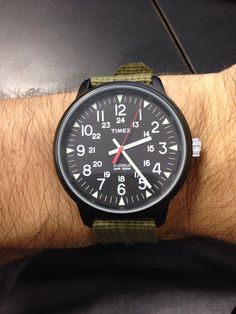 Timex big pilot with military green Zulu