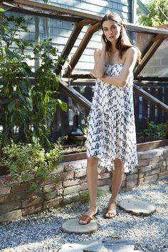 Vanessa Rayon Eyelet Strapless Dress, Velvet by Graham and Spencer.