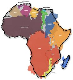 Funny pictures about Africa Is Huge. Oh, and cool pics about Africa Is Huge. Also, Africa Is Huge photos. Tanzania, Kenya, Afrique Francophone, Nova, Facts You Didnt Know, Les Continents, Mind Blowing Facts, Africa Map, East Africa