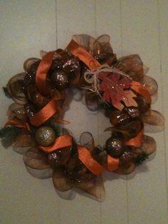 Fall Deco Mesh Wreaths by WreathsbyAD on Etsy, $55.00