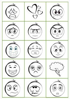 Talk to children about feelings - with this freebie, a memory of emotions, that's easy and almos Gratis Download, Curriculum Mapping, Kindergarten Lesson Plans, Art Education, Sorting, Worksheets, Preschool, Memories, How To Plan