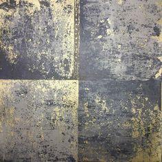 Holden Decor Metal Panel Wallpaper - Slightly textured metallic gold on a flat matt blue background. Industrial Wallpaper, Modern Wallpaper, Textured Wallpaper, Industrial Interiors, Modern Industrial, Texture Art, Texture Painting, Blue And Gold Wallpaper, Blue Gold