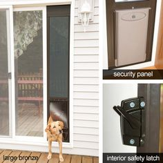 PetSafe Deluxe Patio Panels - Easy to install dog door supplies security for you, access for your pet