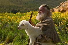 Lucas 15:2–7, El pastor lleva a su oveja perdida de regreso al rebaño.