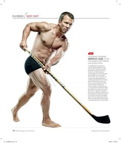 Martin St. Louis featured in ESPN Magazine Body Shot feature