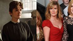 Siobhan Finneran, in and out of her O'Brien costume. Wow, hair and makeup. Wow.