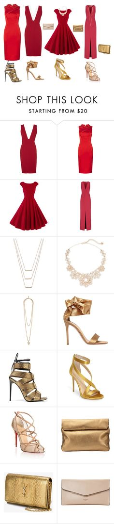 """""""Fiesta de Rojos"""" by espejo-diana on Polyvore featuring moda, Alice + Olivia, Balenciaga, ERTH, Kate Spade, Givenchy, Gianvito Rossi, Tom Ford, Imagine by Vince Camuto y Christian Louboutin"""