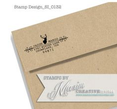 Personalized Deer Self Inking Wedding Rubber by OhHappyDayStamps Creative Invites, Self Inking Stamps, Label Design, Wedding Gifts, Return Address, Stationery, Invitations, Etsy Shop, Crafty