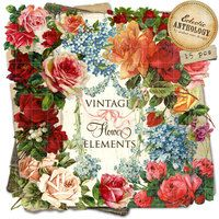 Vintage Roses and Flower Digital Graphics | No. 4
