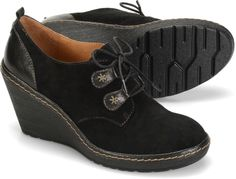 Sofft Camila - Black Suede - View Sofft Womens