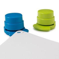 Staple-less Staplers - Set of 2 | Staple Free Stapler, No Staple Stapler | UncommonGoods