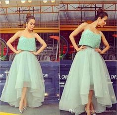 Sequined Sequined Cocktail Dress Two Piece Of Evening Dress Organza Tutu Skirts…