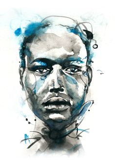 watercolor inspired by ajak deng :D by Saltyshadow
