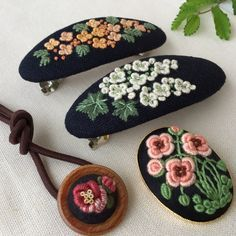 Comolife Made in Japan , Japanese Traditional Needlework Kit , Lovely Flower and Forest Coaster - Embroidery Design Guide Crystal Embroidery, Sashiko Embroidery, Embroidery Works, Couture Embroidery, Rose Embroidery, Japanese Embroidery, Embroidery Stitches, Embroidery Patterns, Machine Embroidery