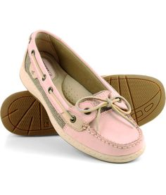 I have these in tan, & it's time to buy a new pair! Sperry pale pink Angelfish <3