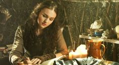 Joye writing a letter to the King on her and the Duke's behalf.