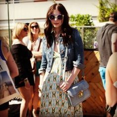 Michelle Trachtenberg kept cool in our Tiki Tiles maxi dress at Coachella last weekend. Time for Round 2!