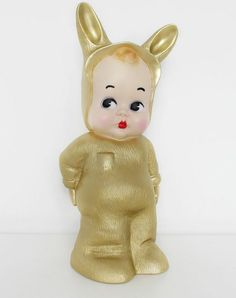 Lapin & Me baby rabbit night light in Gold. Limited edition, these look fantastic in grown up spaces. Adorable Baby Rabbit night light Lamps that create a soft glow and may even help sooth fidgety kids to sleep. A fabulous finishing touch to a vintage or retro themed room. Looks just as cute when not lit. Gold colour in metallic finish made from moulded plastic material. Each Bunny is finished hand painted in Germany. £72 at www.kisskissheart.com