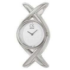 Calvin Klein Women's K2L24120 Enlace Analog Display Swiss Quartz Silver Watch