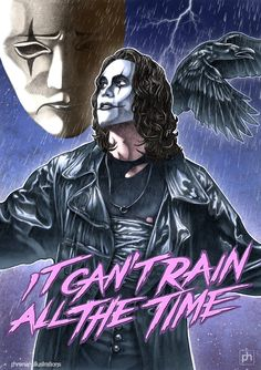 """""""It can't rain all the time"""" by phrenan. But I love the rain .it cleanses, it washes all the built up pus from our pores. I wish it would for 40 days & nights.just for the chaos it would course. Crow Art, Raven Art, Brandon Lee, Horror Art, Horror Movies, Crow Movie, Bruce Lee Family, Crows Ravens, The Crow"""
