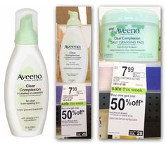 Aveeno Clear Complexion Products, As Low As $3.99 at Walgreens
